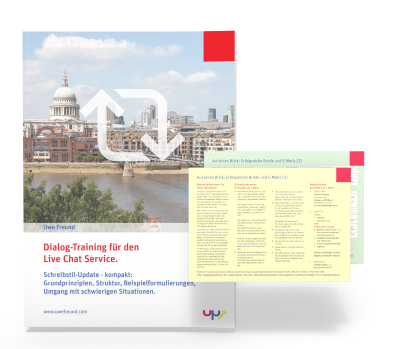 Seminar-Handbuch: Dialogtraining Live Chat Service