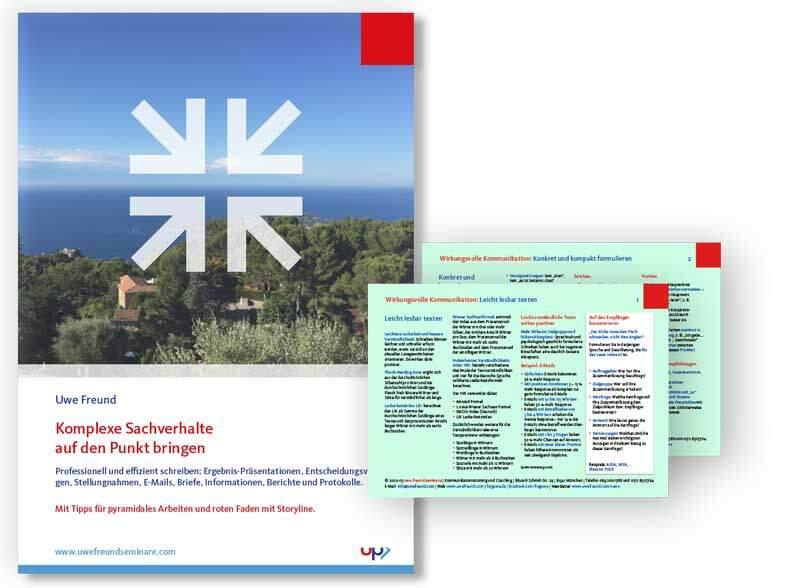 Seminar-Handbuch: Professionell formulieren
