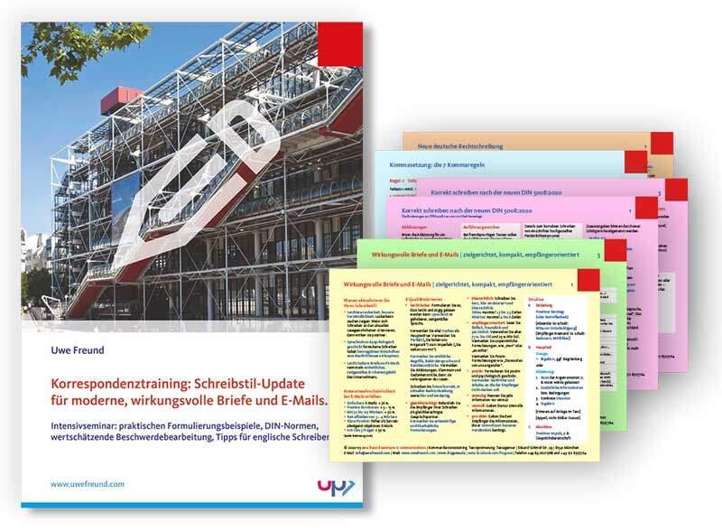 Seminar-Handbuch: Korrespondenztraining - Briefe und E-Mails