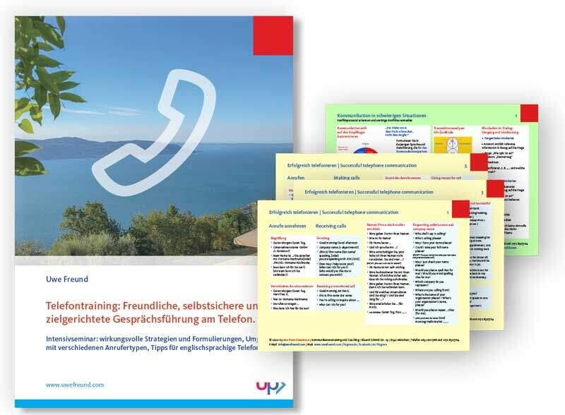 Seminar-Handbuch: Telefontraining - Telefonseminar - Telefonschulung